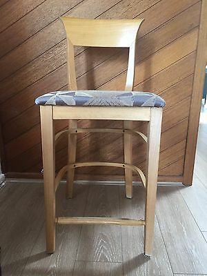 4 x Kitchen / Bar stools - Italian Beech Wood Chairs ( Price is for 4)