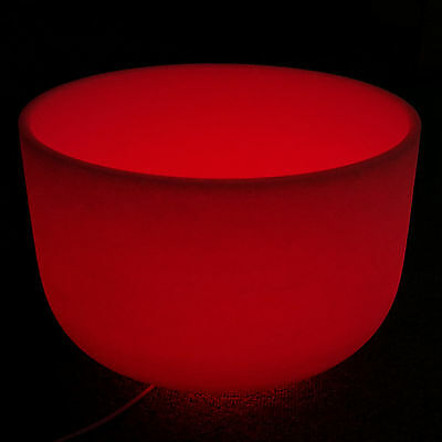 Quartz Singing Bowl Meditation Red Light  Stand Ring