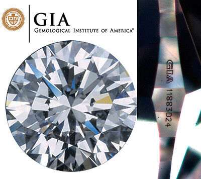 GIA Certified  0.50 CT G SI1 Round Cut Natural Loose Diamond Cert# 7216994986