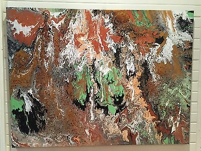 Modern Abstract Extra Large Oil On Canvas Painting 92x122cm