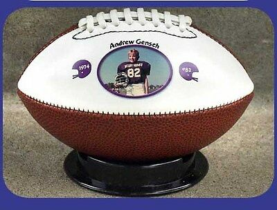 THANKS COACH GRIDIRON TEAM - Small Size Ball - Your Photo & Personalised Text