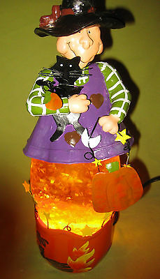 Vintage Lighted Witch Display 14 inches Tall