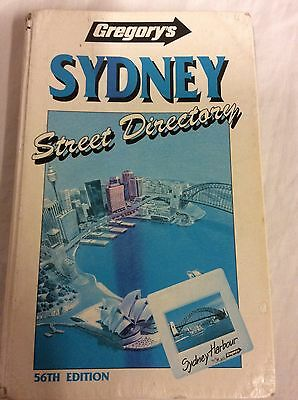 1991 GREGORYS SYDNEY STREET DIRECTORY. 56TH EDITION, HARD COVER,very good cond.