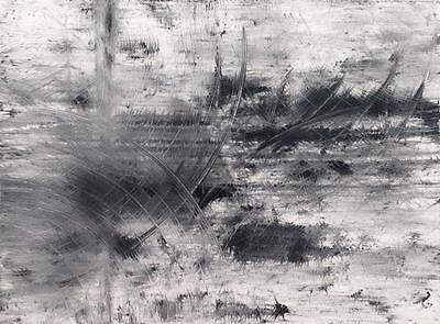 Large Black and White Abstract Contemporary Modern Fine Art Tara Baden Canvas