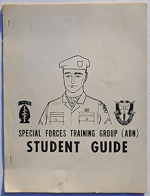 Wartime Vintage Special Forces Training Group Student Guide