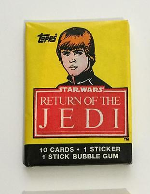 Star Wars Return Of Jedi S1 Vintage Trading Card Wax Pack 1983 Topps Luke Skywlk