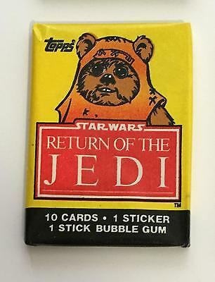 Star Wars Return Of Jedi S1 Vintage Trading Card Wax Pack 1983 Topps Wicket Ewok