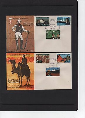 1976 Australian Explorers Set of 2 First Day Covers Toowong QLD Cancel