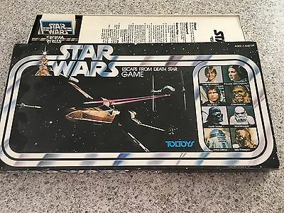 STAR WARS Escape From The Death Star TOLTOYS BOARD GAME Vintage & Complete 1977