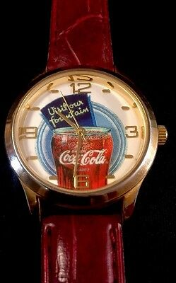 "COCA COLA COLLECTOR WATCH!!! ""visit Our Fountian"" 2003"