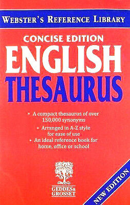 Webster's Thesaurus - Concise Edition + Collins Thesaurus A-Z In Color