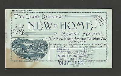 Antique Ad - New Home Sewing Machine Advertising Booklet - 14 Pages - c.1892