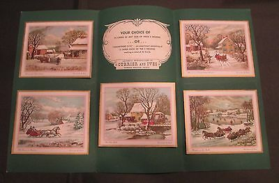 Vintage Currier and Ives 1957 Christmas Card Salesman Sample