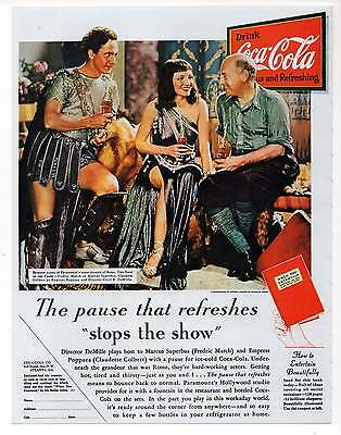 "COCA COLA AD Repro 1930's Advertisement Art for Framing, 7.75"" x 10"""