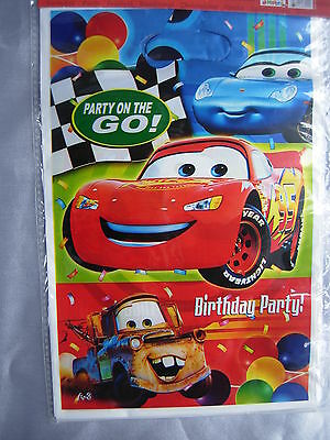 10 New Birthday Party Loot Gift Bags, Disney Cars