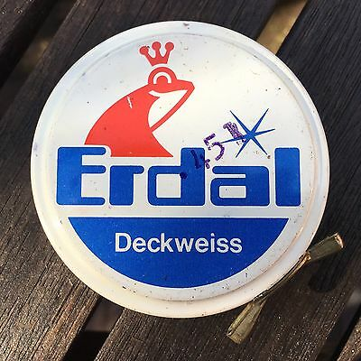 Vintage Erdal Deckweiss Shoe Boot Polish Tin
