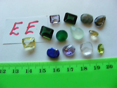 Lot of 12 Genuine Faceted Gemstones,natural mined stones...Nice Variety.(Lot EE)