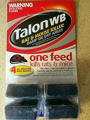 Talon dry wet rat and mice poison by selleys.
