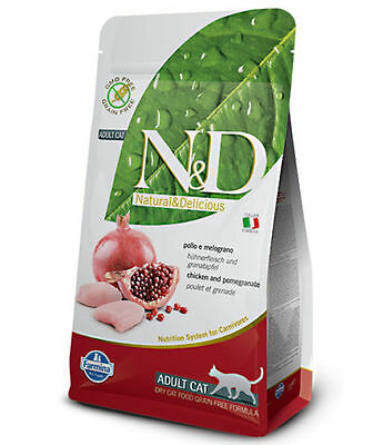 Farmina N&D Grain Free Adult Pollo e melograno per gatti