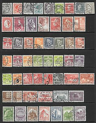 DENMARK Interesting Early All Used Issues Selection 'G' (Dec 0423)