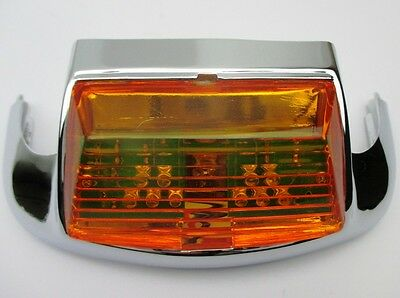 Front OE Style Fender Tip with LED Light, Amber for Harley FL Models