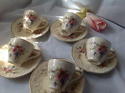 Demitasse cups and saucers Crown Ducal Marie