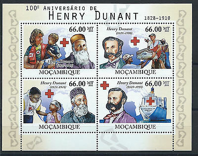 Mozambique N° 3426/29** (MNH) 2010 - Croix Rouge (Henry Dunant)