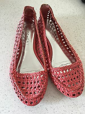 Witchery Shoes, Watermelon Pink,  Leather Upper, Size 38. Vgc.