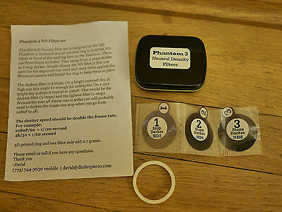 DJI Phantom 3 - ND Filters (new design) - set of 3 filters and case