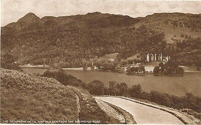 "Postcard - Trossachs - ""The Trossachs Hotel & Ben A'an from the Aberfoyle Road"""