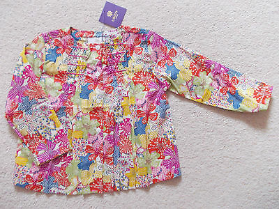 BNWT Girls Floral Liberty London Print Pin Tuck Blouse Top Age 18 mnths