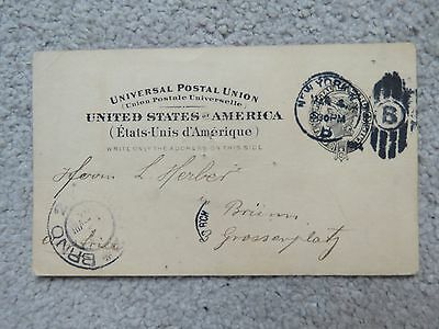 Vintage 1904 United States Pre-paid 2c Postcard - H Repham Sherriff of New York