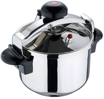 San Ignacio 18/10 Stainless Steel Premium Pressure Cooker 6 & 8 Litre Induction