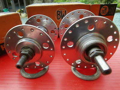 """Vintage Bayliss Wiley """"Continental"""" LF hubs. 32/40H fixed. NiB, totally stunning"""