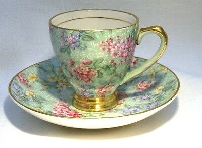 Empire Ware Lilac Chintz  Coffee Demi Tasse Cup & Saucer