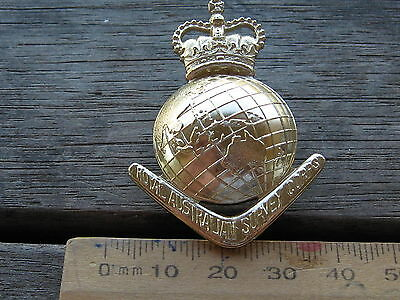 Original anodised Staybrite Royal Australian Army Survey Corps RASVY hat badge