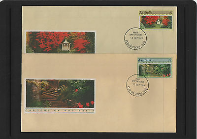 1989 Gardens of Australia $2 & $5 First Day Covers Albury NSW cancel