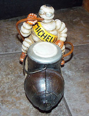 Superb Heavy Cast Iron Michelin Man Bibendum On Compressor Advertising Piece