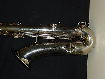 vintage Nickle silver plated Conn tenor saxophone 1922 LP rolled tone holes