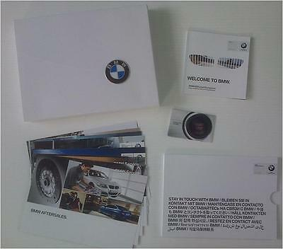 BMW new car WELCOME PACK books cards box gift literature brochure