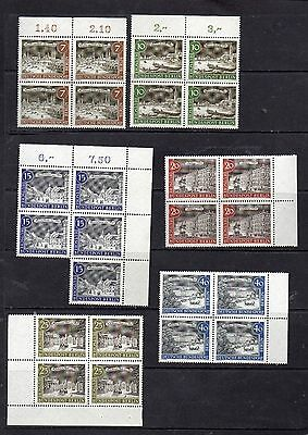 Germany Berlin 1962 Old Berlin Sg B213/224 Blocks Of 4 Mnh And Fine Used 5 Scans