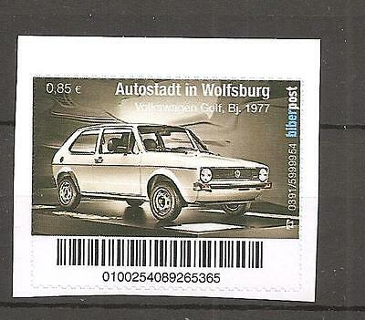 VW Golf I Bj. 1977, Marke postfrisch Biberpost, stamp mnh Biberpost