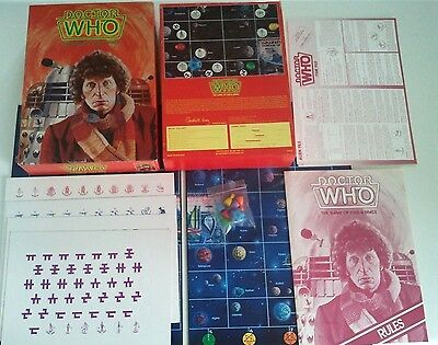Unused DOCTOR WHO The Board Game of Time & Space Tom Baker Games Workshop Daleks