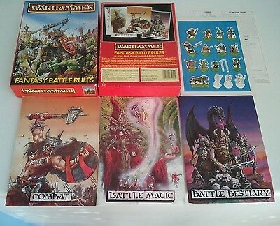 WFB Warhammer Fantasy Battle 2nd Second Edition Boxed Game - Oldhammer GW 1984