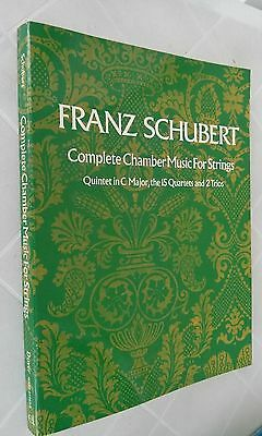Libro Spartiti Franz Schubert Complete Chamber Music For Strings
