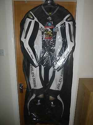 Arlen Ness Magnesium One Piece Leather Racing Motorcycle Suit Black EU 56 UK 46