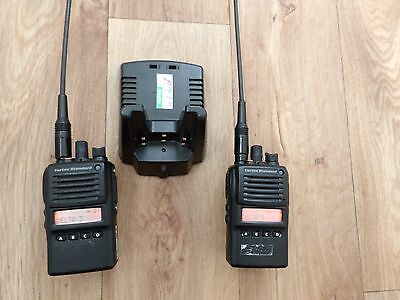 Vertex VX-824 VHF x 2  Ex Police, & Charger  they Talk one to another in 16 Chan