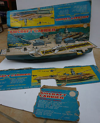 MARX BATTERY OPERATED TIN AIRCRAFT CARRIER - Very Rare Item
