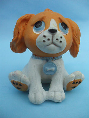 Collectable PMS Blue Eyed Brown and White Dog Ornament