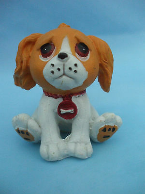 Collectable PMS Brown Eyed Brown and White Dog Ornament